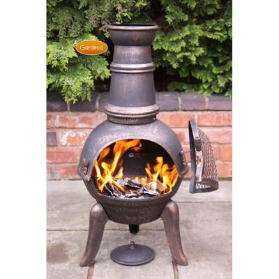 Gardeco Granada Cast Iron Chimeneas Bronze - Medium