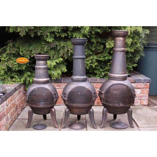 Gardeco Granada Cast Iron Chimeneas - Bronze