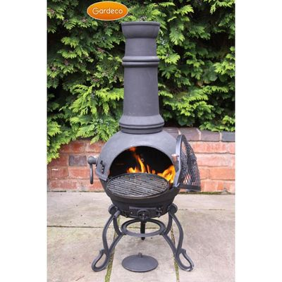 Gardeco Toledo Cast Iron Chimenea - Black