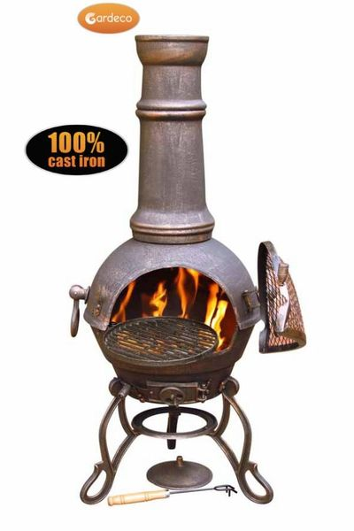 Gardeco Toledo Chimenea Large - Bronze