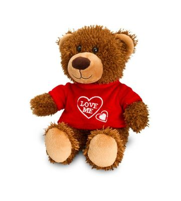 20cm Valentines Bear with T-Shirt