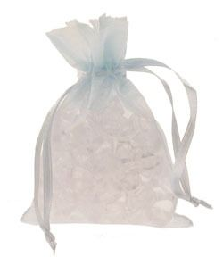 Baby Blue Organza Favour Bag