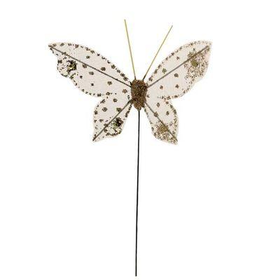 7cm Gold Gauze Butterfly