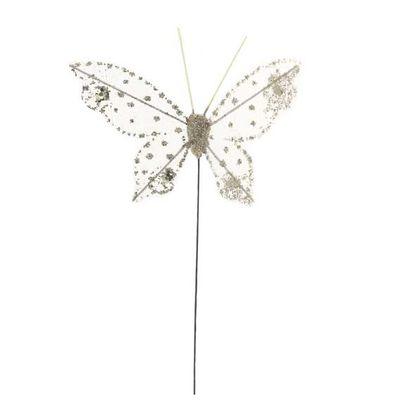 7cm Cream Gauze Butterfly