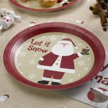 Let is Snow Father Christmas Plates
