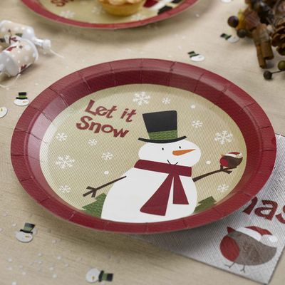 Let its Snow Snowman Plate