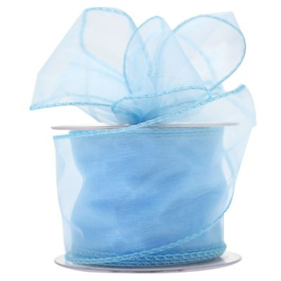 70mm Baby Blue Chiffon Ribbon