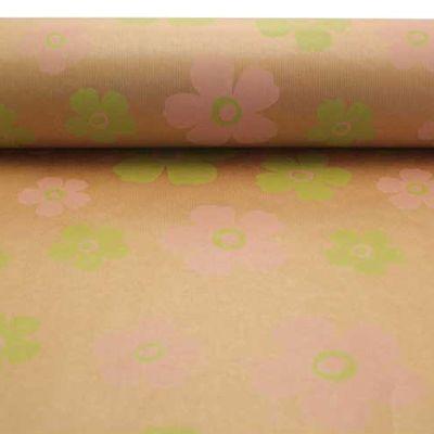 Pink & Green Fleur Kraft Paper