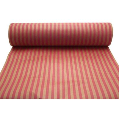 Cerise & Pink Stripes Kraft Paper