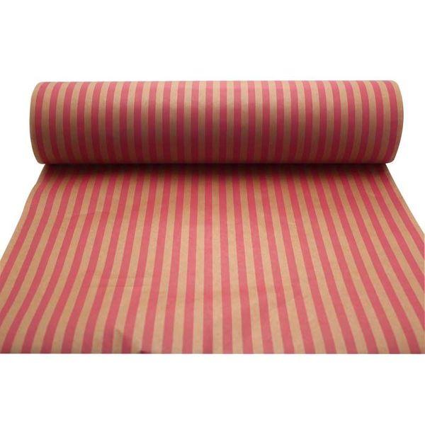 Cerise & Pink Stripes Kraft Paper