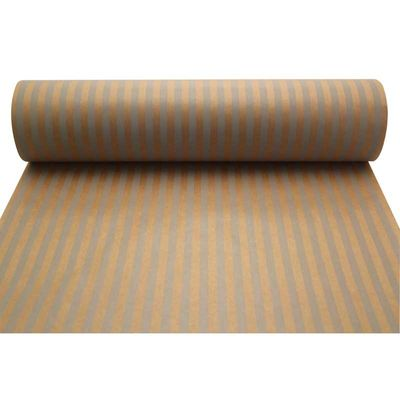 Grey Stripes Kraft Paper