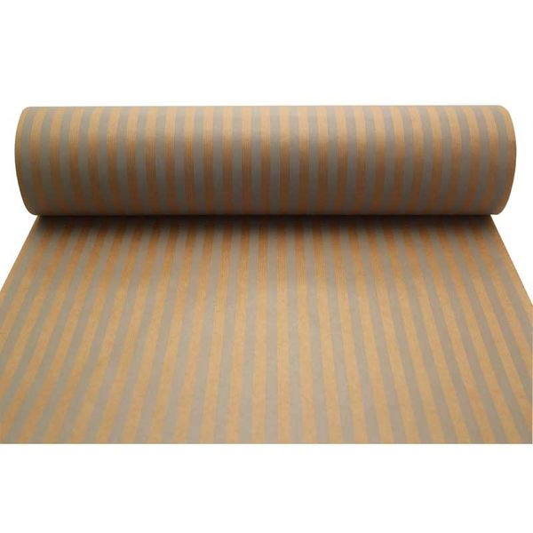 Grey Stripes Kraft Paper