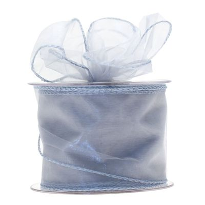70mm Silver Chiffon Ribbon