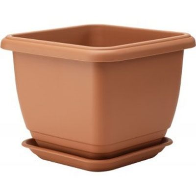 Stewart Balconnaire Square Planter - Terracotta