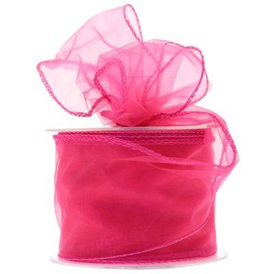 70mm Shocking Pink Chiffon Ribbon