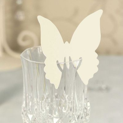 Ivory Butterfly Place Cards