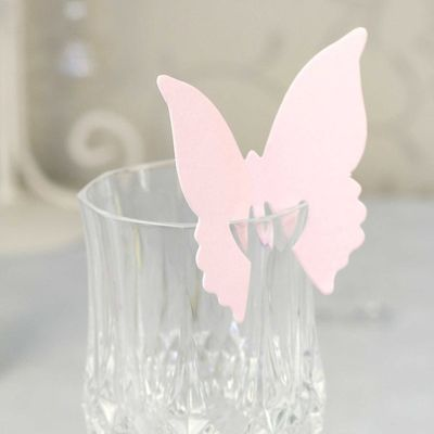 Baby Pink Butterfly Place Cards
