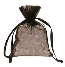 Black Organza Favour Bag
