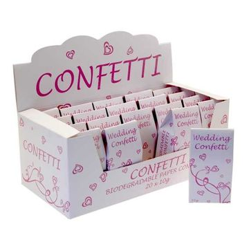 Pink and White Tissue Confetti