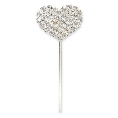 Diamante Heart Pick