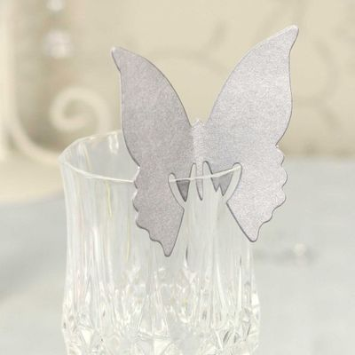 Silver Butterfly Place Cards