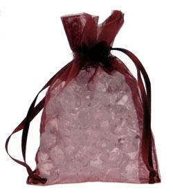 Burgundy Organza Favour Bag
