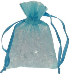 Turquoise Organza Favour Bag