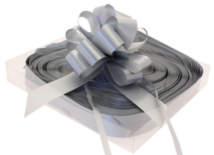 Silver Pull Bow and Box (31mm)