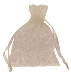Ivory Organza Favour Bag