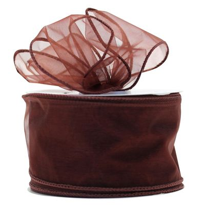 70mm Chocolate Chiffon Ribbon