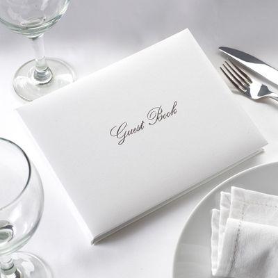 White / Silver Guest Book
