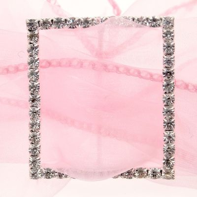 Large Square Diamante Buckle