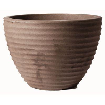 Stewart Large Low Honey Pot Planter - Chocolate