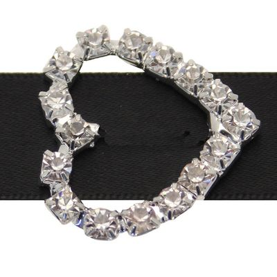 Small Heart Diamante Buckle