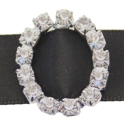 Round Diamante Oval Buckle