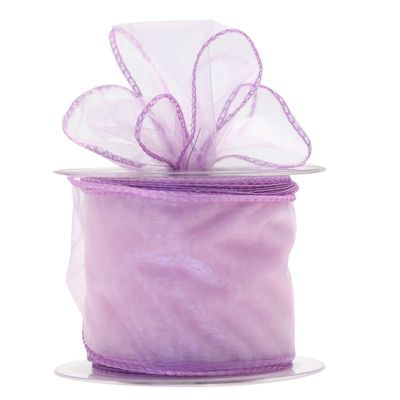 70mm Lilac Chiffon Ribbon