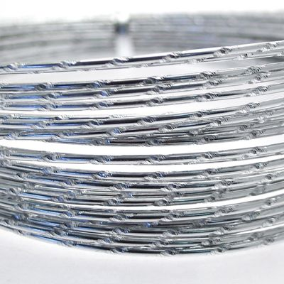 Silver Diamond Cut Wire