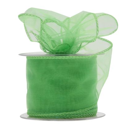 70mm Lime Chiffon Ribbon
