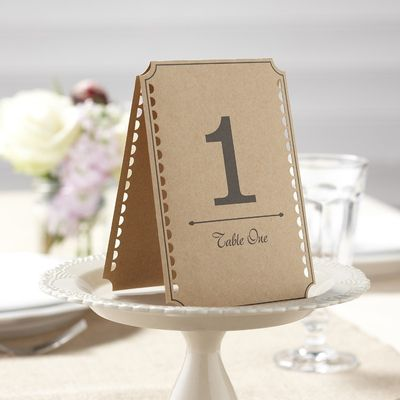 Brown Kraft Table Numbers