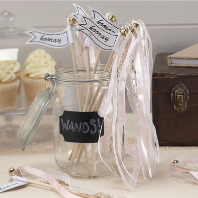 Light Pink Wedding Wands