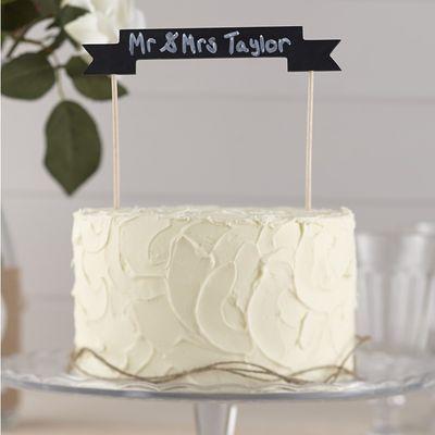 Chalkboard Wooden Cake Topper