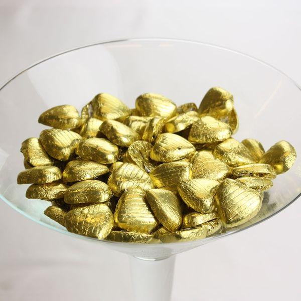 Gold Choc Heart
