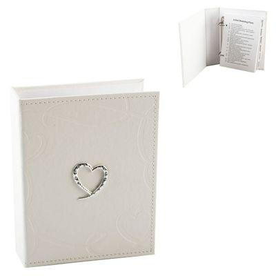 Hearts Leatherette Wedding Planner