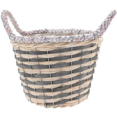 Two Tone Round Basket