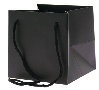 Small Black Hand Tie Bag