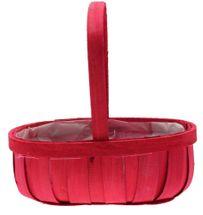 Red Softwood Trug Basket