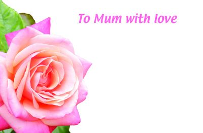 To Mum With Love Greetings Card