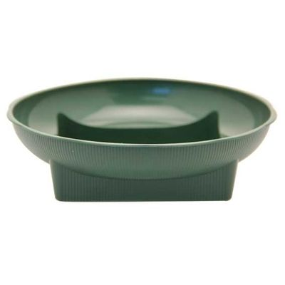 Large Green Square Round Dish