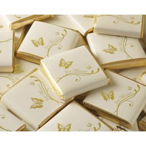 Gold Butterfly Chocolate Squares