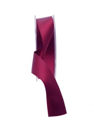 25mm Satin Ribbon Burgundy